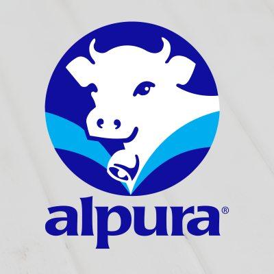 logotipo de la empresa Alpura