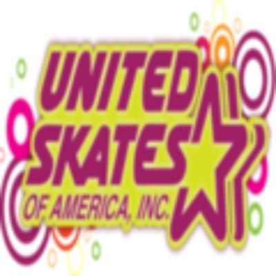 UNITED SKATES OF AMERICA AND AFFILIATED RINKS logo